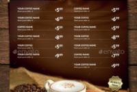 15+ Coffee Shop Menu Designs & Templates Psd, Indesign In Menu Board Design Templates Free
