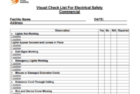 3 Free Facility Maintenance Checklist Templates Word For Building Maintenance Log Template