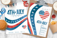 4Th Of July Flyer Templatesbrandpacks   Graphicriver Within 4Th Of July Menu Template