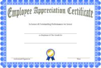 7+ Free Employee Appreciation Certificate Template Ideas Throughout Fantastic Free Certificate Of Appreciation Template Downloads