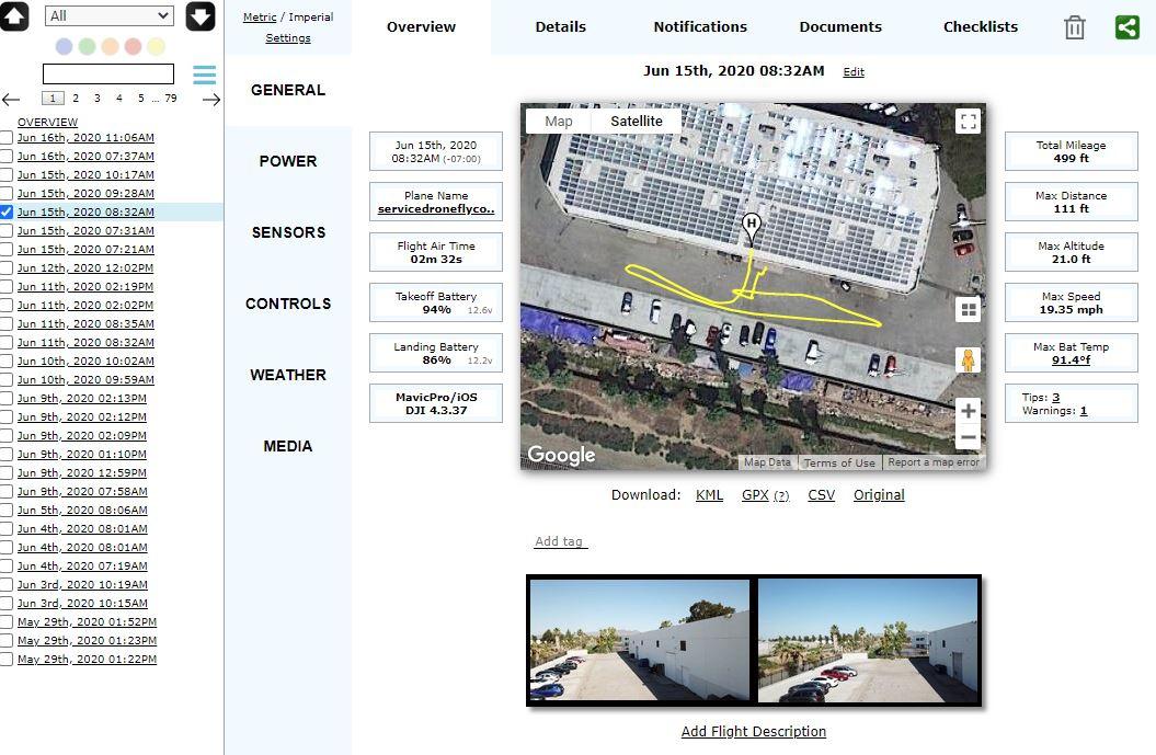 Airdata Enterprise Drone Fleet Management Made Easy Inside Aircraft Flight Log Template