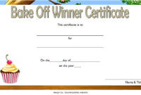 Bake Off Winner Certificate Template Free 3 | Op Templates With Regard To Amazing 7 Science Fair Winner Certificate Template Ideas