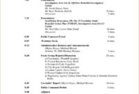 Board Meeting Agenda Template | Shatterlion Pertaining To Advisory Board Meeting Agenda Template