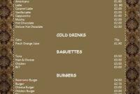 Cafe Menu Template Microsoft Word Templates In 2020 | Cafe Pertaining To Free Cafe Menu Templates For Word