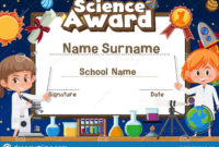 Certificate Template Design For Science Award With Two Inside Amazing 7 Science Fair Winner Certificate Template Ideas