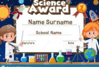 Certificate Template Design For Science Award With Two With 7 Science Fair Winner Certificate Template Ideas