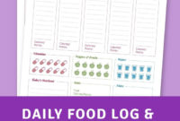 Daily Food Log & Health Journal Template Printable Pdf With Regard To Home Health Care Daily Log Template