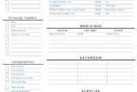 Elderly Care Caregiving Checklist. Editable Printable Is Inside Home Health Care Daily Log Template