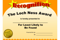 Free Funny Award Certificate Templates For Word Throughout Fascinating Professional Award Certificate Template