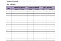 Free Printable Mileage Log   Template Business Intended For Business Mileage Log Template