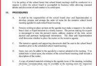 How To Create A Board Meeting Agenda (12+ Templates) For Advisory Board Meeting Agenda Template