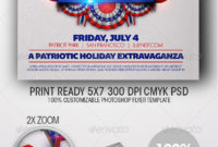 July 4Th Independence Day Flyer Templatedesign Cloud With Regard To 4Th Of July Menu Template