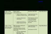 Kostenloses Advisory Board National Meeting Agenda Throughout Advisory Board Meeting Agenda Template