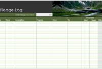 Mileage Log Template   Free Mileage Log Template With Regard To Business Mileage Log Template