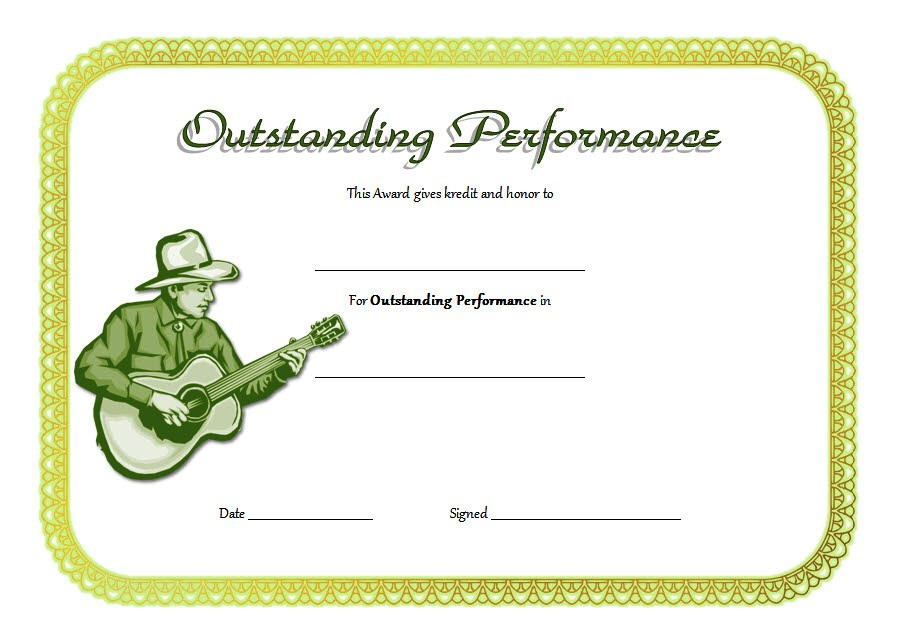 Outstanding Performance Certificate Template 7 For 7 Science Fair Winner Certificate Template Ideas