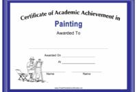 Painting Academic Achievement Certificate Template With Academic Achievement Certificate Template