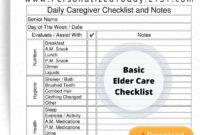 Printable Elder Care Daily Caregiver Log Pdf Digital With Regard To Home Health Care Daily Log Template