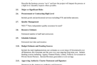 Project Charter In Word And Pdf Formats Page 5 Of 5 Intended For Independent Government Cost Estimate Template