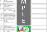 Quality Control Construction Template Store In Water Damage Drying Log Template