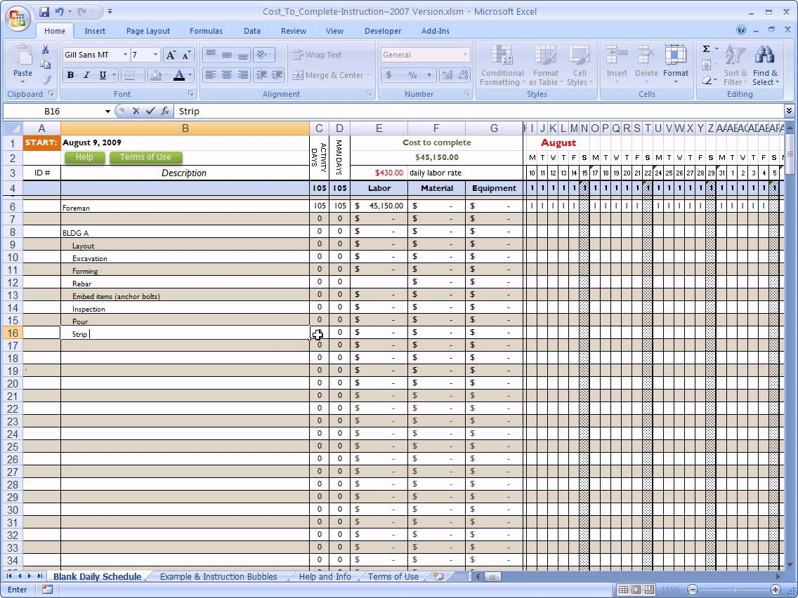 Residential Construction Budget Template Excel Yaruki Up Pertaining To Building Cost Spreadsheet Template