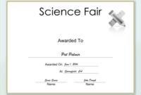Science Fair Certificate Printable Certificate With Regard To 7 Science Fair Winner Certificate Template Ideas