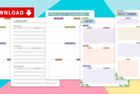 Student Planner Templates With Agenda Template For Students