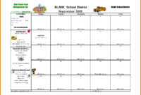 Template For School Lunch Menu Printable Schedule Template Intended For Free Printable Menu Template