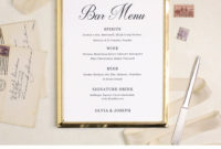 Wedding Bar Menu Template Editable Bar Menu Printable Word Throughout Editable Menu Templates Free