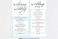 Wedding Program Template (126940) | Card Making | Design Within Wedding Agenda Template