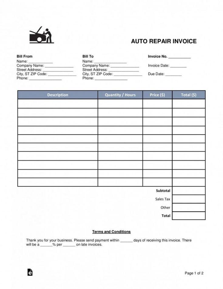 Printable Auto Repair Estimate Template ~ Addictionary Inside Simple Software Development Estimate Template