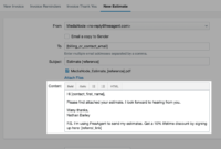Set Up An Automatic Email For New Estimates Freeagent With Fantastic Email Estimate Template